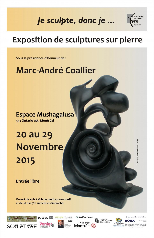 «Je Sculpte, Donc je …», Exposition annuelle 2015