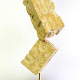 FRAGMENTATIONSculpture en grès et granitH: 76 cm. B: 14 cm. X 14 cm.