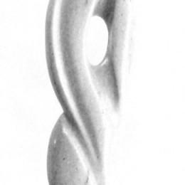 AMOURSculpture en marbre et granitH: 64 cm. B: 10 cm. X 10 cm.