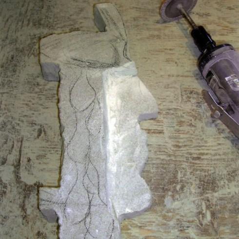 Ébauche d'une sculpture
