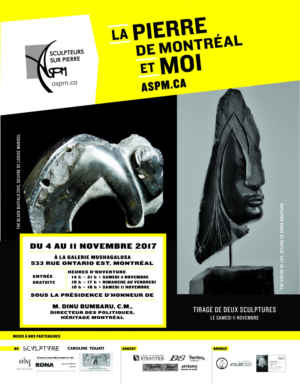La Pierre de Montréal et moi, 4 au 11 novembre 2017, Galerie Mushagalusa, 533 Ontario est, Montréal, Brunch-Vernissage : dimanche 5 novembre, 11h00
